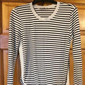 Zara striped crew neck top