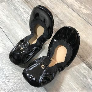 Yosi Samra Shoes - YOSI SAMRA Black Patent Leather Flat