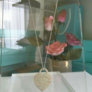 """Tiffany & Co. Jewelry - Tiffany & Co Heart Tag charm 16"""" Necklace"""