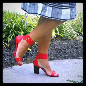 Sole Society Shoes - Julianne Hough for Sole Society Red Block Heels