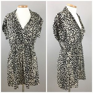 Forever 21 Dresses & Skirts - NWOT Cheetah Cream & Black Faux Wrap Mini Dress