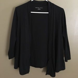 New York & Company Sweaters - New York & Company Simple Black Cotton Cardigan
