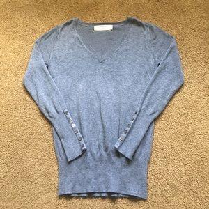 Zara Sweaters - Zara Knit Grey V-Neck Sweater