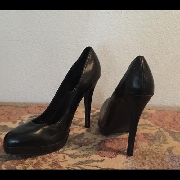 Women's Black Paprika Platform Heels Size 10