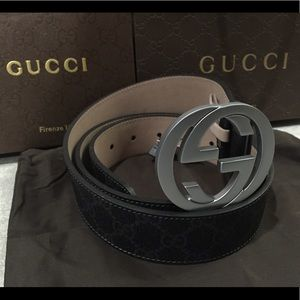 Gucci Other - Gucci new black and grey belt