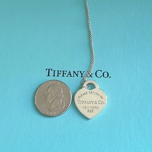 "Tiffany & Co. Jewelry - Please Return To Tiffany &  Heart Tag 18"" Necklace"