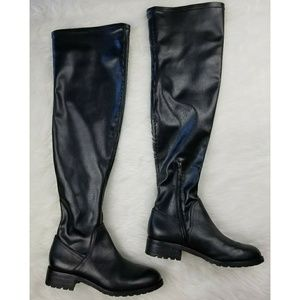 Sam Edelman Shoes - Sam Edelman Over the Knee Black Leather Boots NWOT