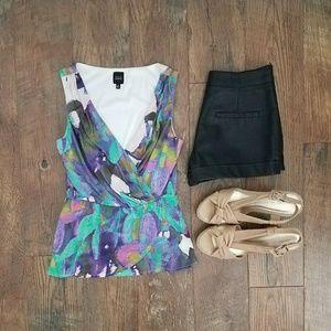 Saks Fifth Avenue Black Label Tops - Saks Fifth Avenue colorful peplum top