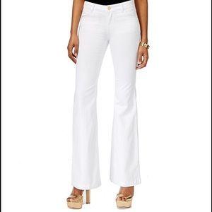 MICHAEL Michael Kors Denim - Michael Kors Womens' White Wash Flare-Leg Jeans