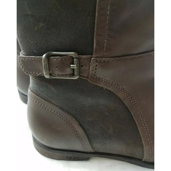 60 ugg shoes ugg australia brown leather knee high