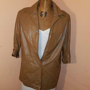 80's Vintage distressed genuine leather jacket