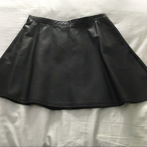 Tinley Road Dresses & Skirts - Faux leather A-line skirt