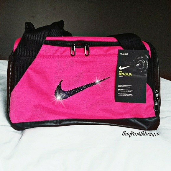 Swarovski Bling Nike Brasilia 6 Duffle Gym Bag 5b47aa88c70c9