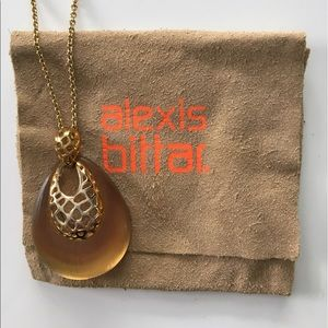 Alexis Bittar Jewelry - Alexis Bittar lucite gold necklace