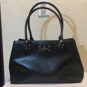 Kate Spade Wellesley Elena Tote Black Leather