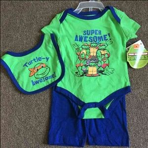 Nickelodeon Other - Teenage Mutant Ninja Turtles Outfit Size 0-3 Month