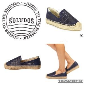 Soludos Shoes - Soludos Laser Cut Leather Espadrille {Navy} sz 9