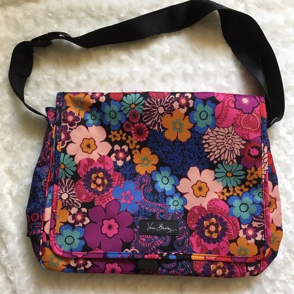 2b812c2bad6a Vera Bradley Messenger Bag Floral Fiesta