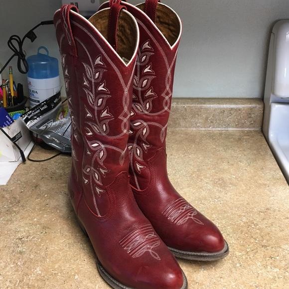 Dark Red Ariat Cowboy Boots | Poshmark