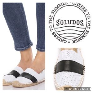 Soludos Shoes - Soludos Barca Perforated Leather Espadrille/sz 7