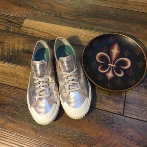 Tretorn Shoes - Tretorn Tournament Metallic Gold Lace-up