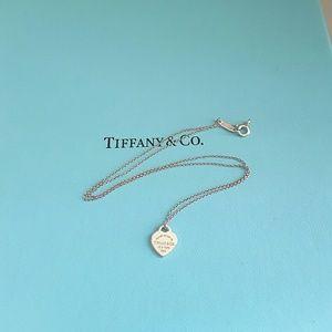 Tiffany & Co. Jewelry - Tiffany & Co MINI Heart Tag Charm Necklace
