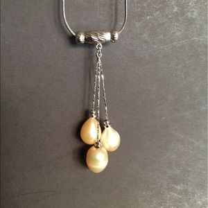 Freshwater Pearl Necklace (Champagne)BNWOT