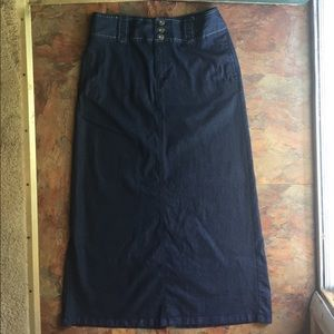 Cato Blue Jean Skirt