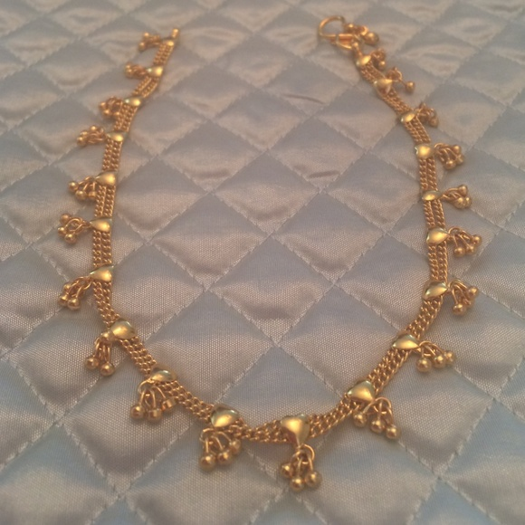 """Indian 22k Gold Plated Wedding Necklace Earrings Jewelry: Indian Bollywood Anklet 10"""" 22k"""