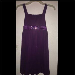 Beaded Plum Belt Tank Dress