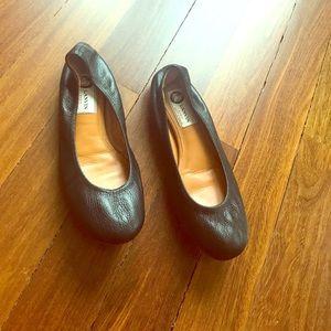Lanvin Shoes - Lanvin flat leather round toe shoes size 7