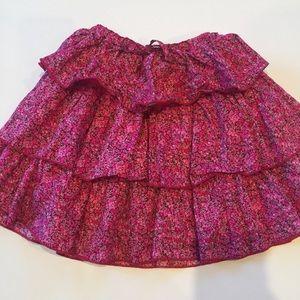 Peek Other - Girls size 8 pink floral ruffled skirt by Peek