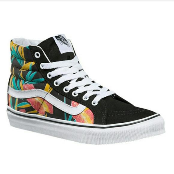 ddac7970aa Vans sk8-hi high top tropical sneakers. M 5900eaab3c6f9fd3cc025235