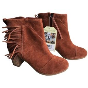 TOMS Shoes - NWT Toms cognac leather fringe booties