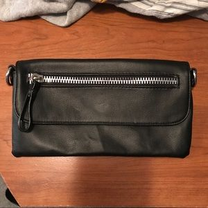 Faux leather clutch 