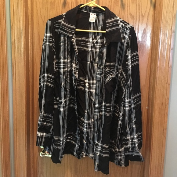 78fe8abd043440 Faded Glory Tops - Walmart Faded Glory plaid button up Plus Size