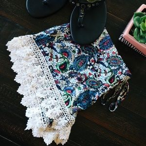 Pants - Bohemian Lace Summer Shorts