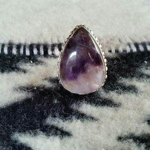 Spell & The Gypsy Collective Jewelry - Raw Natural Chevron Amethyst Sterling Silver Ring