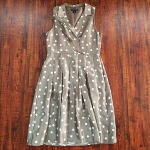 Jessica Howard Dresses & Skirts - Jessica Howard Gray White Polka Dot Dress 16