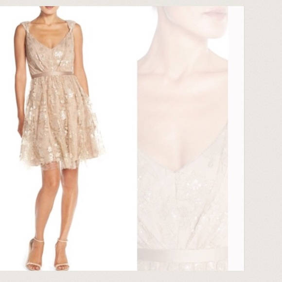 80% off Vera Wang Dresses Nordstrom Rose Gold Lace Cocktail Dress ...