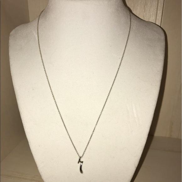 15 off tiffany co jewelry tiffany co elsa peretti for Elsa peretti letter pendant review