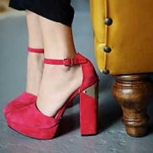 Free People Shoes - WOW red heels.