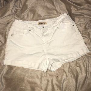 Blue Spice white jean shorts
