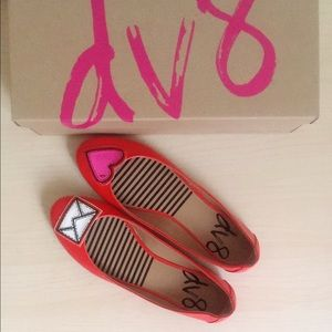 DV by Dolce Vita Shoes - NWT DV by Dolce Vita girly candy red flats