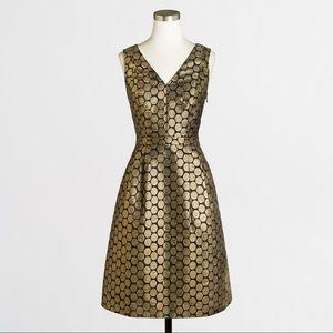 J. Crew Factory Dresses & Skirts - J. Crew Metallic Dot V-Neck Jacquard Dress