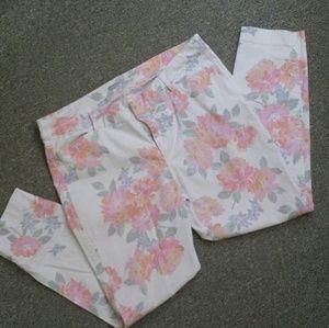 Old Navy Floral Pixie Pants
