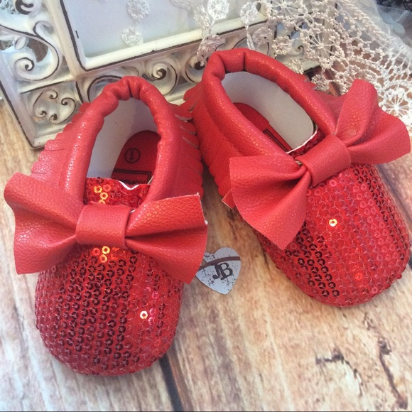 Shoes Boutique Baby Girl Sparkle Red Sequin Poshmark