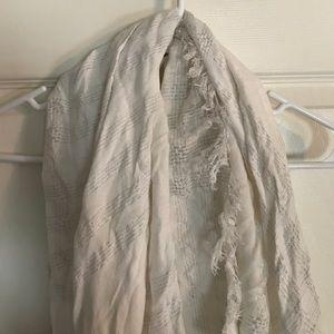 White and silver sparkly scarf