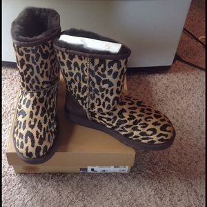 UGG Shoes - NEW IN BOX LEOPARD PRINT UGG BOOTS