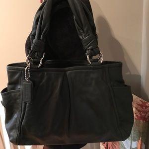 Coach Handbags - NWOT black leather coach bag!